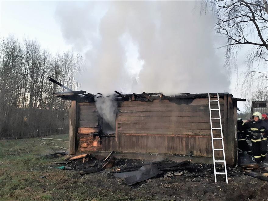 Пожар в Островце 19 апреля