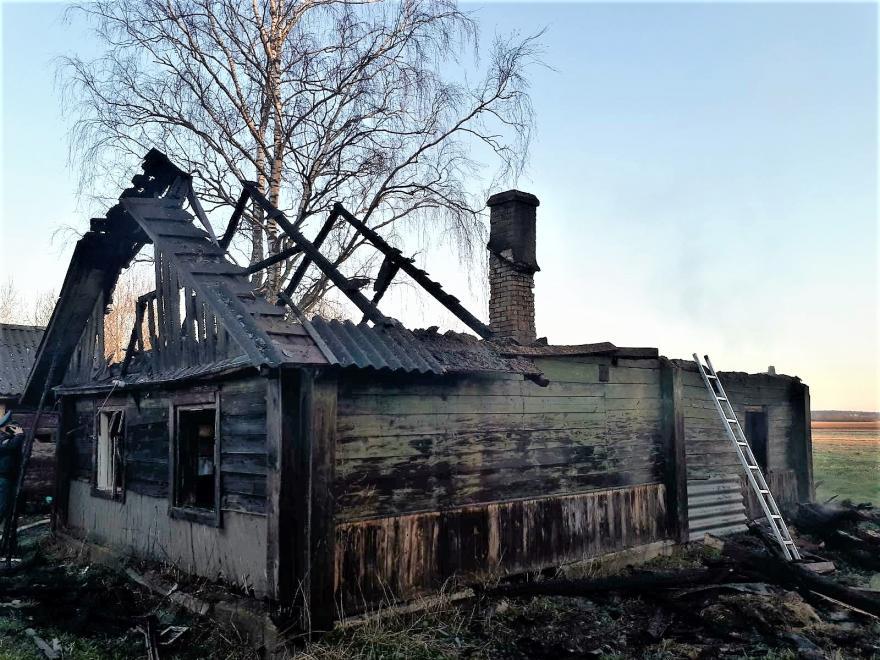 Пожар в Островце. 19 апреля 2021 года