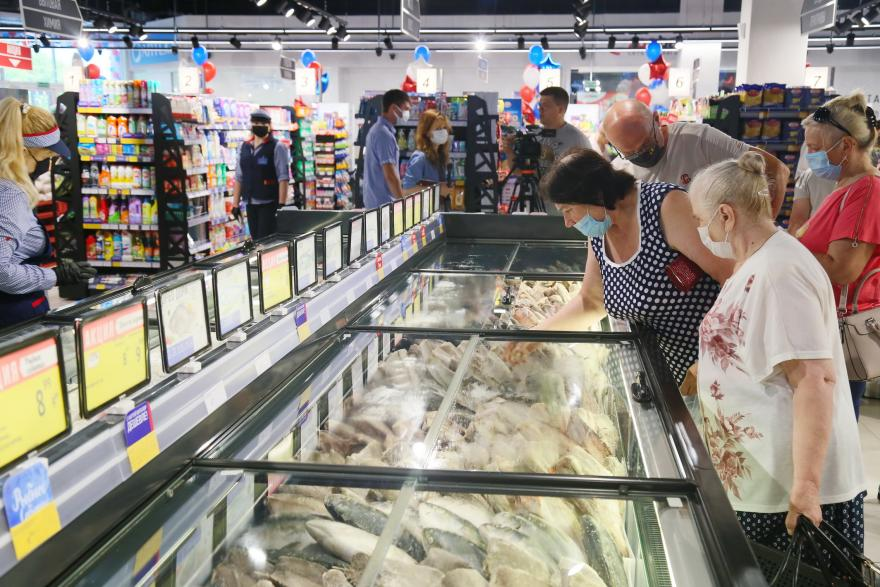 Свежемороженая рыба в «Виталюре» в Молодечно