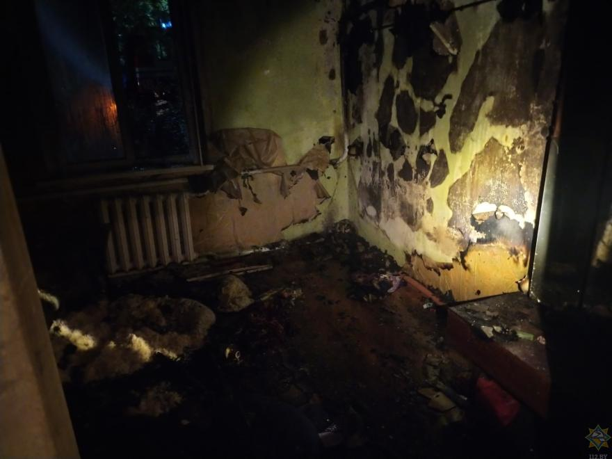 Пожар в Вилейке 20 июля на улице Толстого