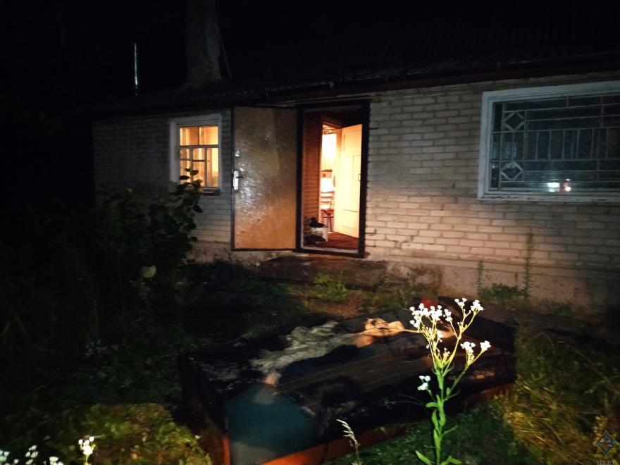 В Вилейке 20 июля горел дом