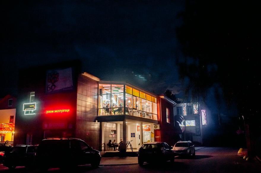 Кофейня Малина в Молодечно расположена на втором этаже