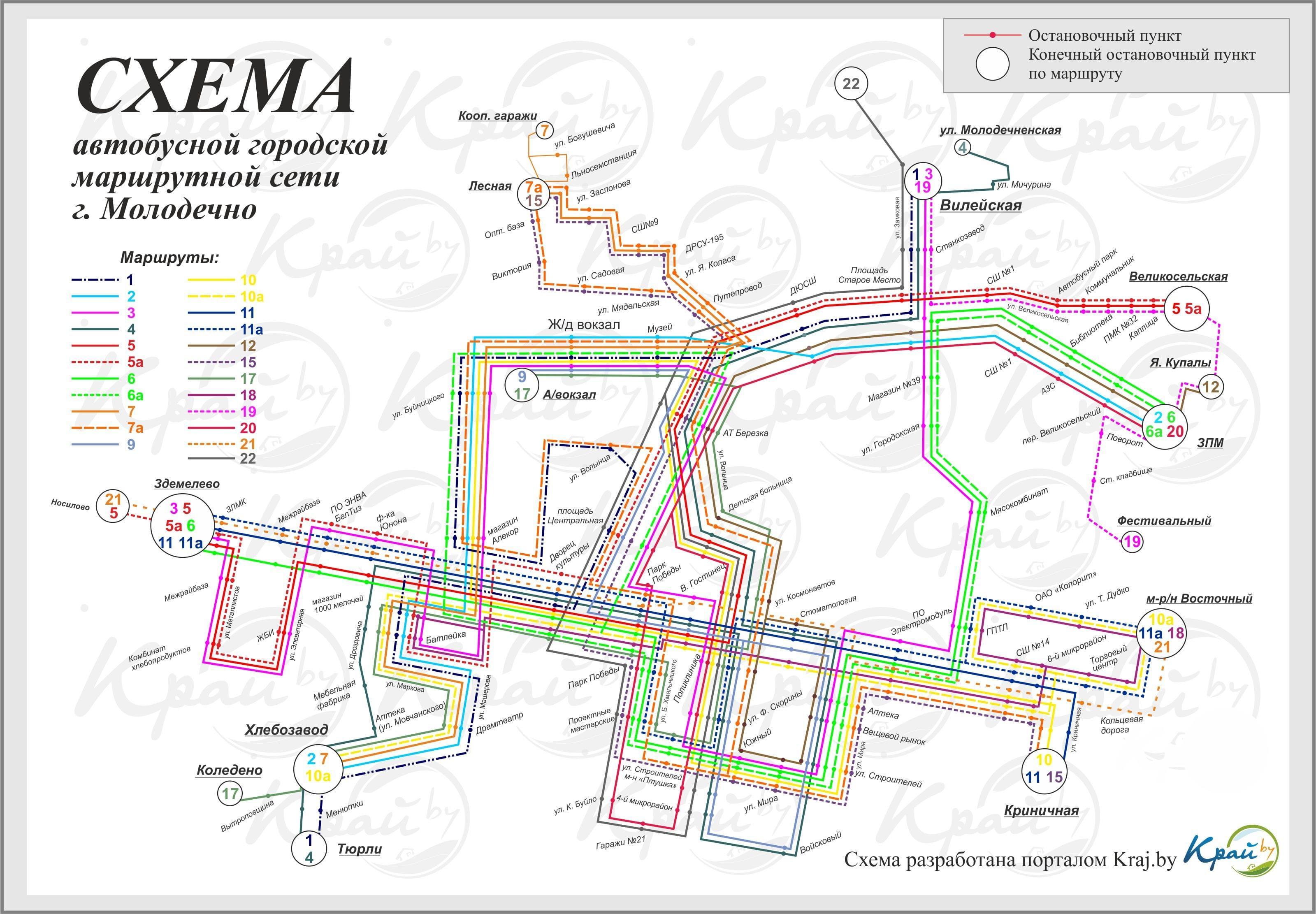 Схемы проезда автобуса