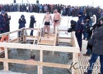 Крещенское купание в Глубоком 19 января. Фото Леонида Юрика