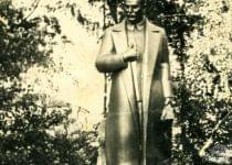 Памятник Сталину в Вилейке, который в 60-х снесли. Фото из личного архива Анатолия Каптюга