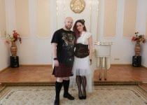 Денис и Елена расписались в Молодечно в стиле стимпанк. Фото предоставлено kraj.by героиней публикации