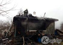 8 декабря в Олехновичах сгорел дом. Фото предоставлено kraj.by Валентиной Сопот