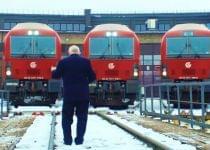 В Литве поезда исполнили гимн своей страны. Скриншот видео Литовских железных дорог